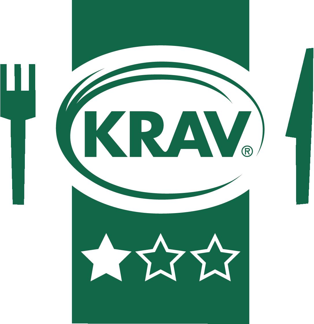 KRAVs restaurangmärkning med en stjärna